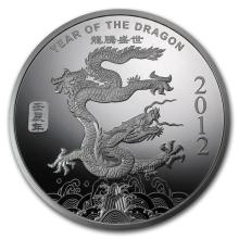 5 oz Silver Round - (2012 Year of the Dragon) #21668v3