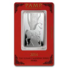 1 oz Silver Bar - PAMP Suisse (Year of the Horse) #21823v3