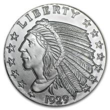 1 oz Silver Round - Incuse Indian (GSM) #21606v3