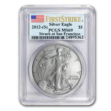 2012 (S) Silver American Eagle MS-69 PCGS (First Strike) #21410v3