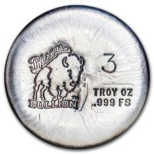 3 oz Silver Round - Bison Bullion #21687v3