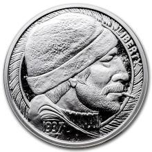 1 oz Silver Round - Hobo Nickel Replica (The Fisherman) #21636v3