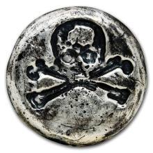 3 oz Silver Round - MK Barz & Bullion (Skull & Bones) #21686v3