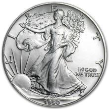 1990 1 oz Silver American Eagle BU #21401v3