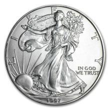 1997 1 oz Silver American Eagle BU #21411v3