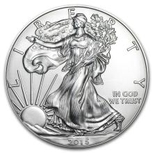 2015 1 oz Silver American Eagle BU #21375v3
