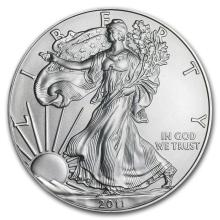 2011 1 oz Silver American Eagle BU #21388v3