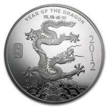 10 oz Silver Round - (2012 Year of the Dragon) #21671v3