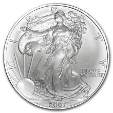 2007 1 oz Silver American Eagle BU #21391v3
