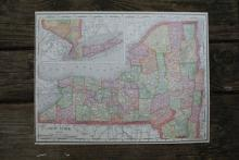 GENUINE 1912 MAP OF NEW YORK #70648v2