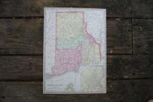 GENUINE 1912 MAP OF RHODE ISLAND #70649v2