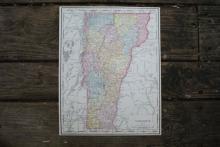 GENUINE 1912 MAP OF VERMONT #70646v2