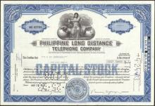 Stock Certificate from the Philippine Long Distance Tel #34714v2