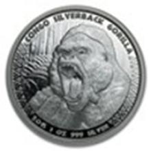 2015 Republic of Congo 1 oz Silverback Gorilla (Prooflike) #75843v2