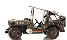 HAND MADE GREEN 1940 WILLYS-OVERLAND JEEP 1:12TH SCALE  #45504v2