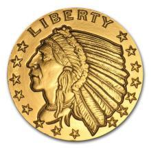 1 oz Gold Round - Incuse Indian #22419v3