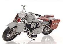 HAND MADE 1945 GREY MOTERCYCLE 1:12TH SCALE MODEL REPLI #45498v2