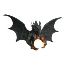 Cold Cast Resin Dragon Wall Lamp #71220v2