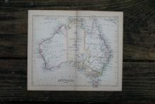 GENUINE AUTHENTIC 1888 MAP OF AUSTRALIA #70894v2