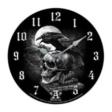 RAVEN ON SKULL WALL CLOCK #70923v2