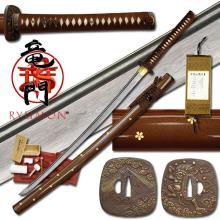 HAND FORGED RYUMON SAMURAI SWORD W/ FOLDED A1S 1060 CAR #20128v2