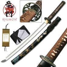 HAND FORGED RYUMON SAMURAI SWORD W/ 1060 HIGH CARBON ST #20141v2