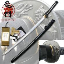 HAND FORGED RYUMON SAMURAI SWORD W/ FOLDED A1S 1060 HIG #20138v2