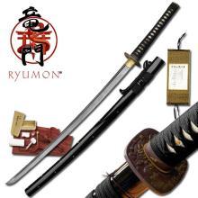 HAND FORGED RYUMON SAMURAI SWORD W/ FOLDED A1S 1060 CAR #20127v2
