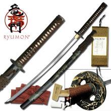 HAND FORGED RYUMON SAMURAI SWORD W/ 1060 HIGH CARBON ST #20142v2