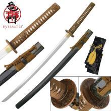 HAND FORGED RYUMON SAMURAI SWORD W/ FOLDED A1S 1060 HIG #20129v2