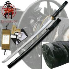 HAND FORGED RYUMON SAMURAI SWORD W/ FOLDED A1S 1060 HIG #20139v2