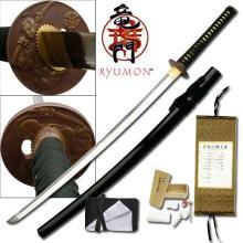 HAND FORGED RYUMON SAMURAI SWORD W/ CARBON STEEL BLADE #20125v2