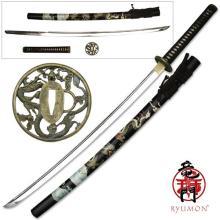 HAND FORGED RYUMON SAMURAI SWORD W/ 1060 HIGH CARBON ST #20140v2