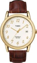 TIMEX WHITE DIAL GOLD TONE STAINLESS STEEL MENS WATCH #44587v2