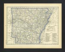 VINTAGE 1930 MAP OF ARKANSAS #45456v2
