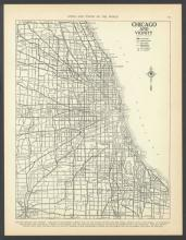 VINTAGE 1937 MAP OF CHICAGO ILLINOIS #45455v2