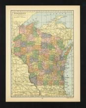 VINTAGE 1926 MAP OF WISCONSIN #45458v2