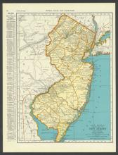 VINTAGE 1937 MAP OF NEW JERSEY #45464v2