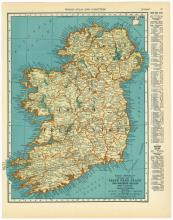 VINTAGE 1937 MAP OF IRELAND #45474v2