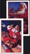Pair of Coca Cola Postcards with Santa #50168v2