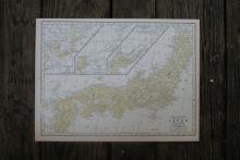 Authentic Vintage 1928 - Japan Map #78043v2