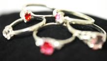 5 PIECE SET OF .925 STERLING SILVER RINGs #33610v1