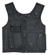 Black Adjustable Quilted Tactical Vest #88534v2
