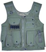 OD Green Adjustable Quilted Tactical Vest #88536v2