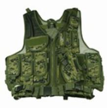 Woodland Digital Camouflage Deluxe Tactical Vest #88513v2