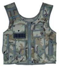Woodland Camo Adjustable Quilted Tactical Vest #88535v2