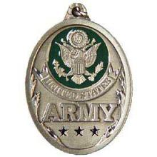 Keychain- U.S. Army Pewter Medallion #13304v2