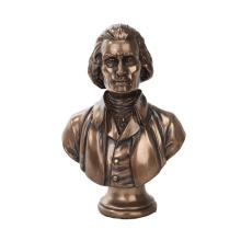 Jefferson Bust Cold Cast Bronze Statue #71203v2