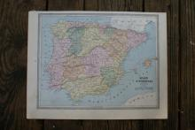Authentic Vintage 1883 - Spain Map #78053v2