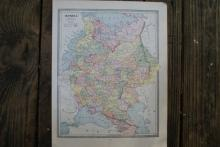 Authentic Vintage 1883 - Russia Map #78054v2